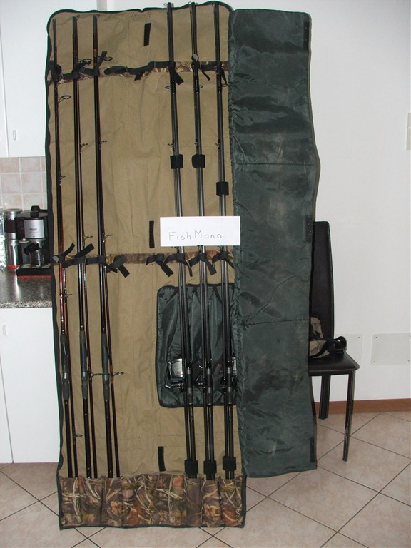 Sacca porta canne 13 39 4 4 foderi singolo 12 39 carpmercatino - Porta canne milo ...